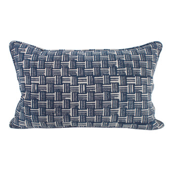 Wicker indigo cushion