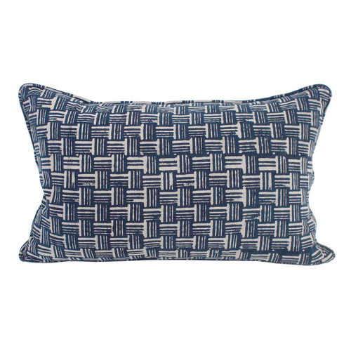 Wicker indigo cushion