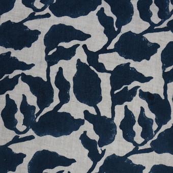 Flores Pacific Blue Linen