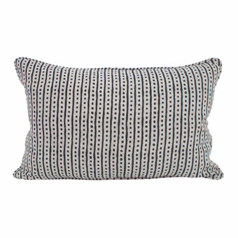 Hakuro Indian teal linen cushion 35x55cm