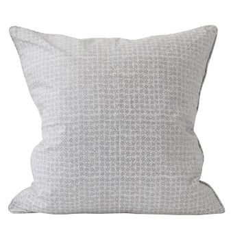 Batik Chalk linen cushion 55x55cm