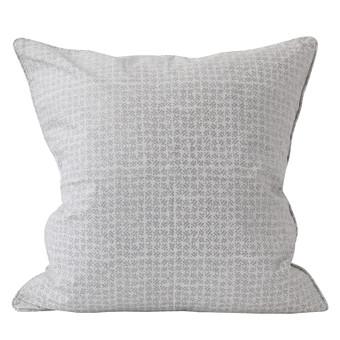 Batik Chalk linen cushion 55x55cm