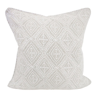Havana chalk linen cushion 50x50cm