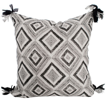 Swazi Ink linen cushion 55x55cm