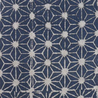 Stars Indigo Cotton