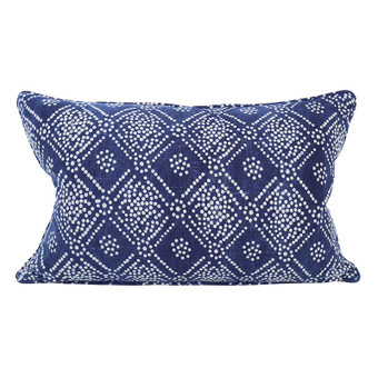 Bandol indigo cotton cushion 35x55cm