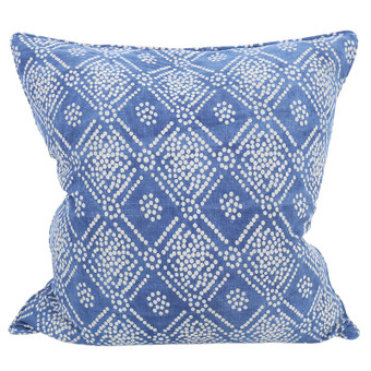Bandol indigo cotton cushion 55x55cm