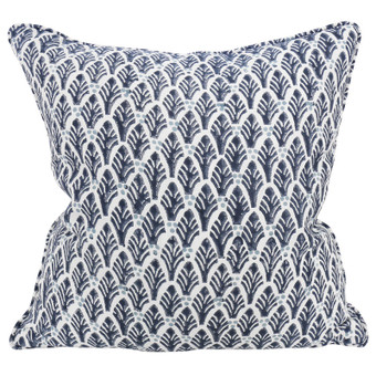 Colaba Midnight linen cushion 50x50cm