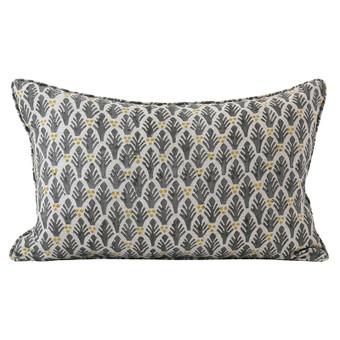 Colaba Saffron linen cushion 35x55cm