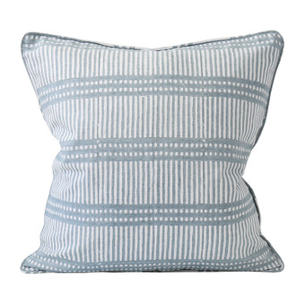Dash Dot Inverse Dusk linen  cushion 50x50cm