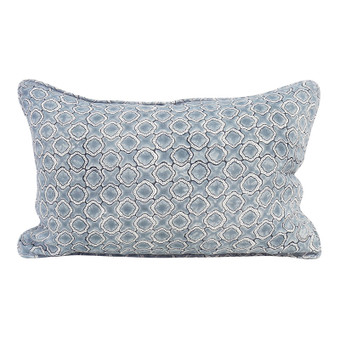 Faro Dusk linen cushion 35x55cm
