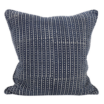 Hakuro indigo cotton cushion 50x50cm