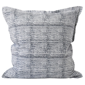 Kantha Dusk linen cushion 55x55cm
