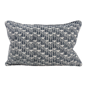 Mali Indian Teal linen cushion 35x55cm