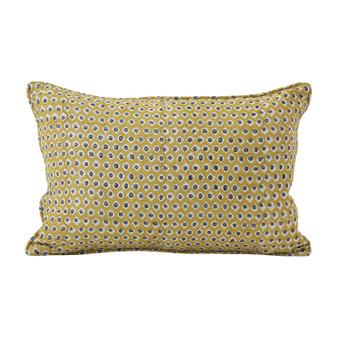Patola Saffron linen cushion 30x45cm