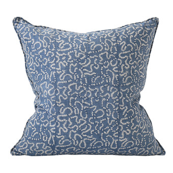 Raas Denim linen cushion 50x50cm