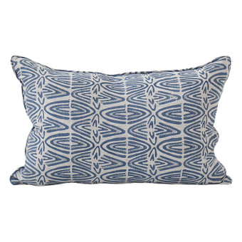 Rabari Denim linen cushion 35x55cm