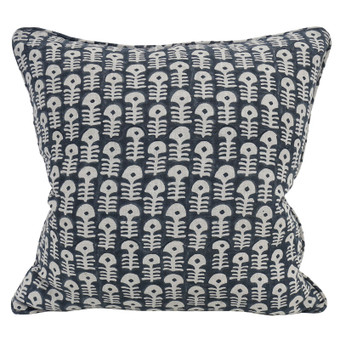 Raj Indian Teal linen cushion 50x50cm