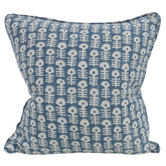 Raj Sky Blue linen cushion 50x50cm