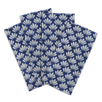Antibes indigo cotton napkins (set of 4)