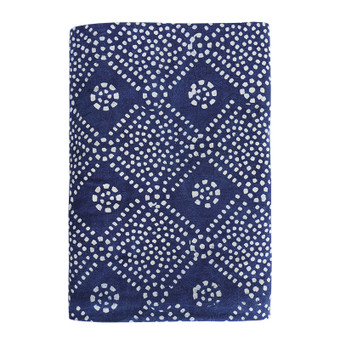 Bandol indigo cotton tablecloth 150x280cm