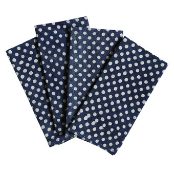 Spots indigo cotton napkins (set of 4)