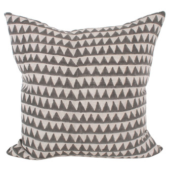 Pyramids mud linen cushion 50x50cm