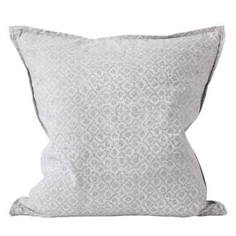 Bandhini Inverse Chalk linen cushion 55x55cm