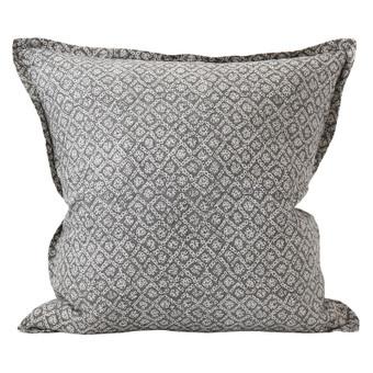 Bandhini Inverse Mud linen cushion 55x55cm