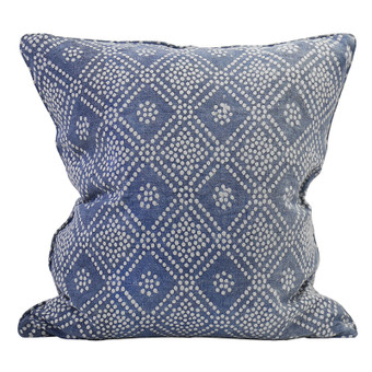 Bandol Inverse Denim linen cushion 55x55cm