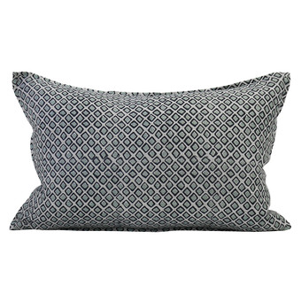 Diamond Buti Light Blue linen cushion 35x55cm