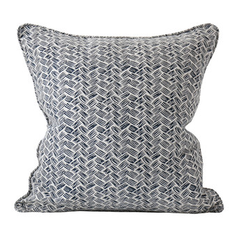 Kasari Indian Teal linen cushion 50x50cm