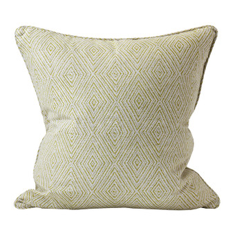 Madras pista linen cushion 50x50cm