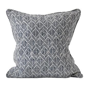 Phulkari Indian Teal linen cushion 50x50cm