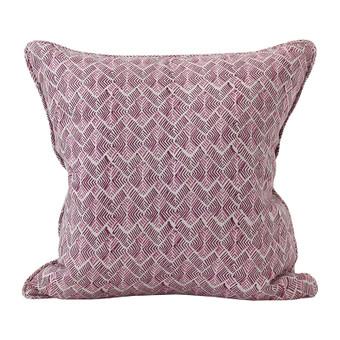 Phulkari Sangria linen cushion 50x50cm