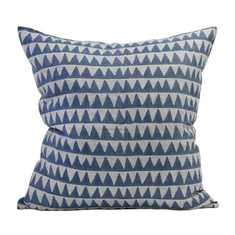 Pyramids Denim linen cushion 50x50cm