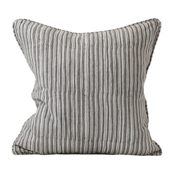 Ticking Mud linen cushion 50x50cm