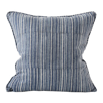 Vintage Stripe Denim linen cushion 50x50cm