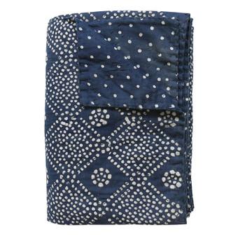 Bandol Indigo Cotton Quilt 235x185cm