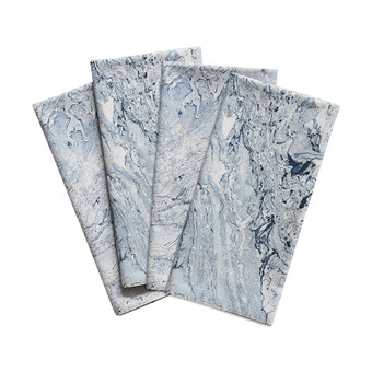 Marble Blues cotton napkins (set of 4)