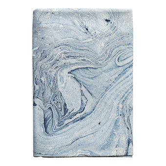 Marble Blues cotton tablecloth 150x280cm