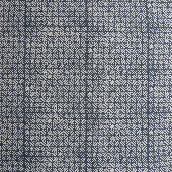 Batik indian teal linen