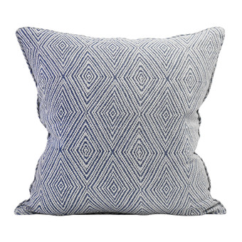 Madras Denim linen cushion 55x55cm