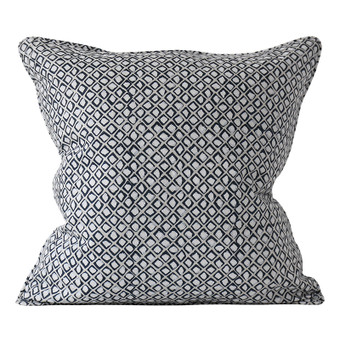 Diamond Buti Chalk linen cushion 50x50cm