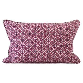 Kepos Sangria linen cushion 35x55cm