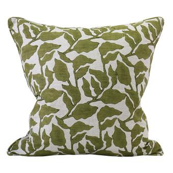 Flores Moss linen cushion 50x50cm