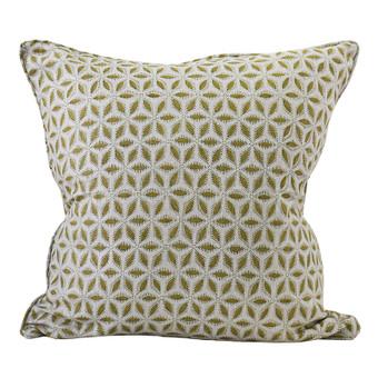 Hanami Olive linen cushion 50x50cm
