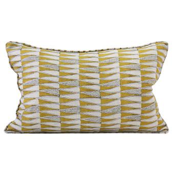 Tangier Saffron linen cushion 35x55cm