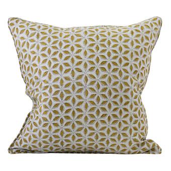 Hanami Saffron linen cushion 50x50cm