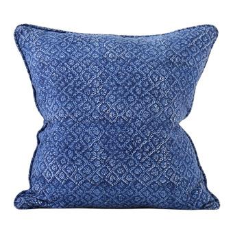 Bandhini Lapis linen cushion 50x50cm